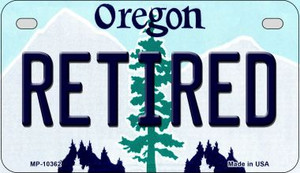 Retired Oregon Wholesale Novelty Metal Motorcycle Plate MP-10362