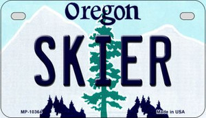 Skier Oregon Wholesale Novelty Metal Motorcycle Plate MP-10364