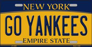 Go Yankees New York Wholesale Novelty Metal License Plate LP-12209