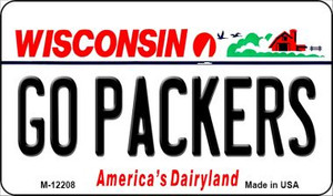 Go Packers Wisconsin Wholesale Novelty Metal Magnet M-12208