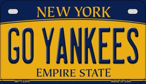 Go Yankees New York Wholesale Novelty Metal Motorcycle Plate MP-12209