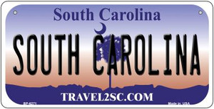 South Carolina Wholesale Novelty Metal Bicycle Plate BP-6271