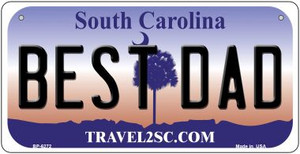 Best Dad South Carolina Wholesale Novelty Metal Bicycle Plate BP-6272