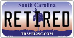 Retired South Carolina Wholesale Novelty Metal Bicycle Plate BP-6274