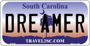 Dreamer South Carolina Wholesale Novelty Metal Bicycle Plate BP-6290