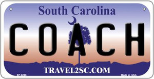 Coach South Carolina Wholesale Novelty Metal Bicycle Plate BP-6298
