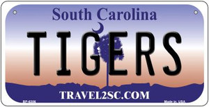Tigers South Carolina Wholesale Novelty Metal Bicycle Plate BP-6306