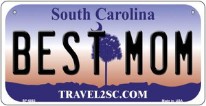 Best Mom South Carolina Wholesale Novelty Metal Bicycle Plate BP-6663