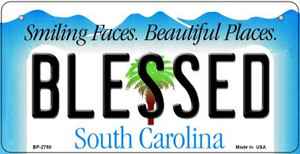 Blessed South Carolina Wholesale Novelty Metal Bicycle Plate BP-2780