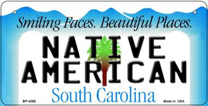Native American South Carolina Wholesale Novelty Metal Bicycle Plate BP-4265