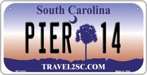 Pier 14 South Carolina Wholesale Novelty Metal Bicycle Plate BP-11413