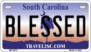 Blessed South Carolina Wholesale Novelty Metal Motorcycle Plate MP-6273