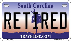 Retired South Carolina Wholesale Novelty Metal Motorcycle Plate MP-6274