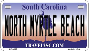 North Myrtle Beach South Carolina Wholesale Novelty Metal Motorcycle Plate MP-9108
