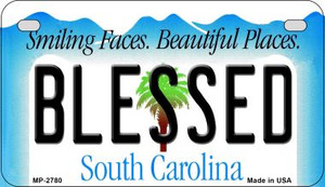 Blessed South Carolina Wholesale Novelty Metal Motorcycle Plate MP-2780