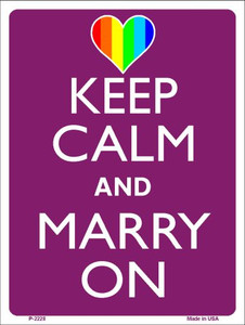Keep Calm Marry On Wholesale Metal Novelty Parking Sign P-2228