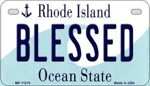 Blessed Rhode Island Wholesale Novelty Metal Motorcycle Plate MP-11215