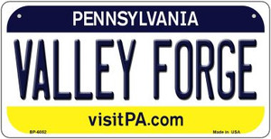 Valley Forge Pennsylvania Wholesale Novelty Metal Bicycle Plate BP-6052