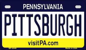 Pittsburgh Pennsylvania Wholesale Novelty Metal Motorcycle Plate MP-6049