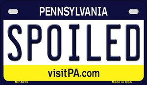 Spoiled Pennsylvania Wholesale Novelty Metal Motorcycle Plate MP-6075