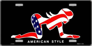 American Style Sexy Flag Pose Wholesale Metal License Plate LP-001