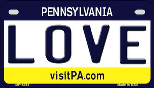 Love Pennsylvania Wholesale Novelty Metal Motorcycle Plate MP-6085