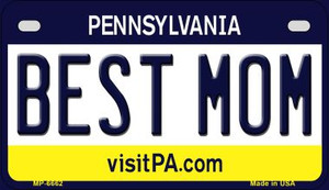 Best Mom Pennsylvania Wholesale Novelty Metal Motorcycle Plate MP-6662