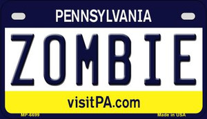 Zombie Pennsylvania Wholesale Novelty Metal Motorcycle Plate MP-6699