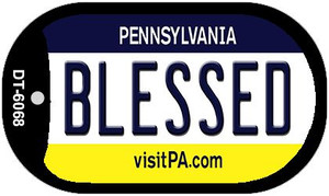 Blessed Pennsylvania Wholesale Novelty Metal Dog Tag Necklace DT-6068