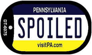 Spoiled Pennsylvania Wholesale Novelty Metal Dog Tag Necklace DT-6075