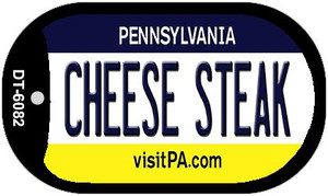 Cheese Steak Pennsylvania Wholesale Novelty Metal Dog Tag Necklace DT-6082