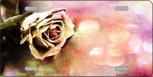 Watercolor Rose Wholesale Novelty Metal License Plate LP-12214