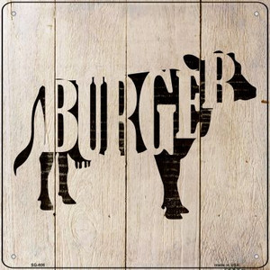 Cows Make Burgers Wholesale Novelty Metal Square Sign SQ-606