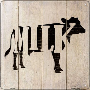 Cows Make Milk Wholesale Novelty Metal Square Sign SQ-646