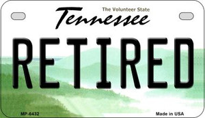 Retired Tennessee Wholesale Novelty Metal Motorcycle Plate MP-6432