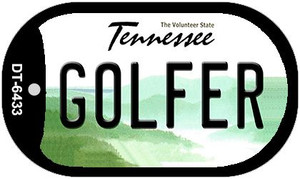 Golfer Tennessee Wholesale Novelty Metal Dog Tag Necklace DT-6433