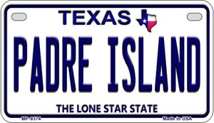 Padre Island Texas Wholesale Novelty Metal Motorcycle Plate MP-9374