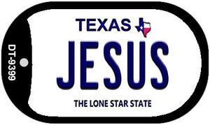 Jesus Texas Wholesale Novelty Metal Dog Tag Necklace DT-9399