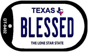 Blessed Texas Wholesale Novelty Metal Dog Tag Necklace DT-9402