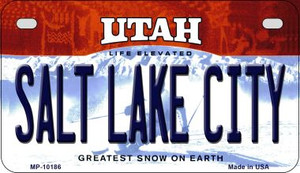 Salt Lake City Utah Wholesale Novelty Metal Motorcycle Plate MP-10186