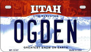 Ogden Utah Wholesale Novelty Metal Motorcycle Plate MP-10187