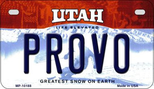 Provo Utah Wholesale Novelty Metal Motorcycle Plate MP-10188