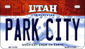 Park City Utah Wholesale Novelty Metal Motorcycle Plate MP-10189
