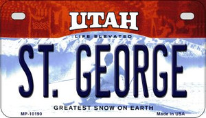 St. George Utah Wholesale Novelty Metal Motorcycle Plate MP-10190