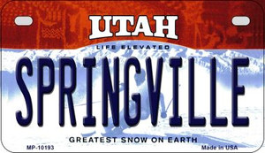 Springville Utah Wholesale Novelty Metal Motorcycle Plate MP-10193