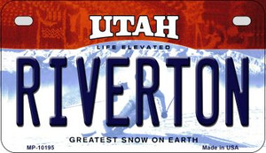 Riverton Utah Wholesale Novelty Metal Motorcycle Plate MP-10195
