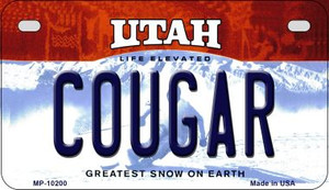 Cougar Utah Wholesale Novelty Metal Motorcycle Plate MP-10200