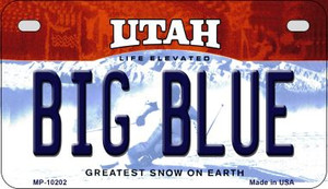 Big Blue Utah Wholesale Novelty Metal Motorcycle Plate MP-10202