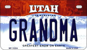 Grandma Utah Wholesale Novelty Metal Motorcycle Plate MP-10204