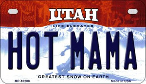 Hot Mama Utah Wholesale Novelty Metal Motorcycle Plate MP-10208